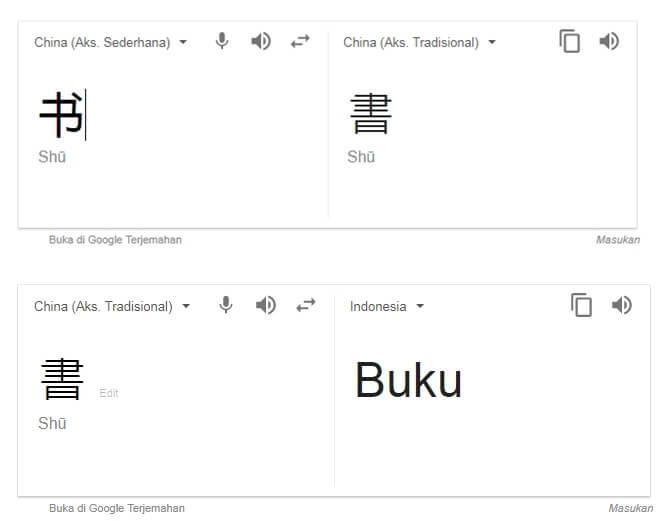 Google translate sebagai Kamus Bahasa Taiwan