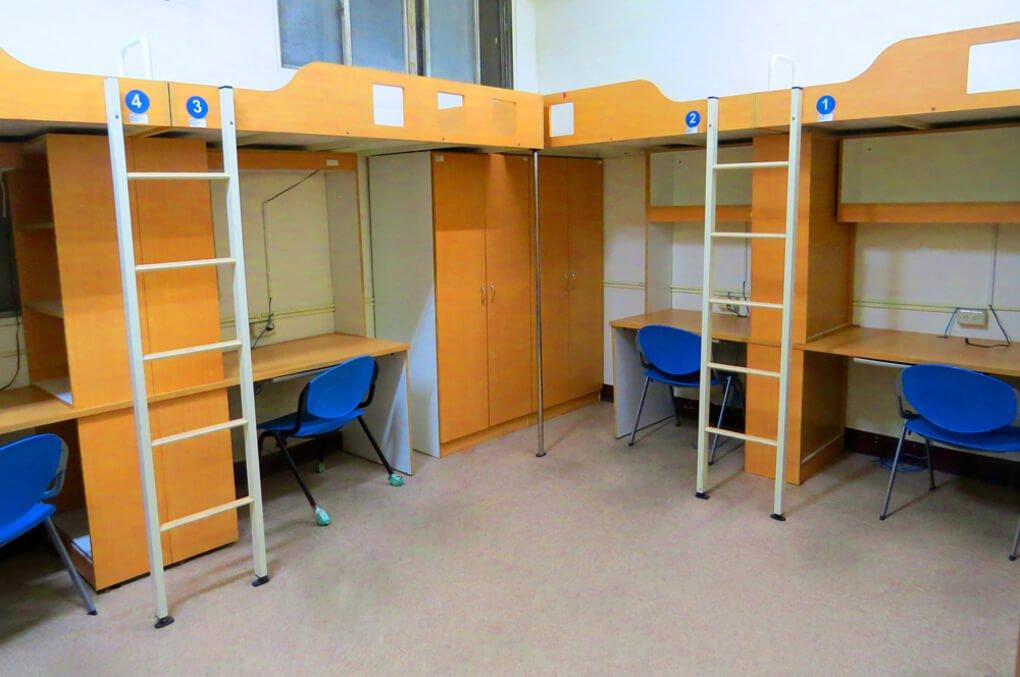 Contoh kamar dorm atau astrama yang ada di universitas Taiwan